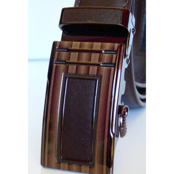 """Boucle de ceinture automatique """"Chic et Sobre"""" couleur chocolat"""