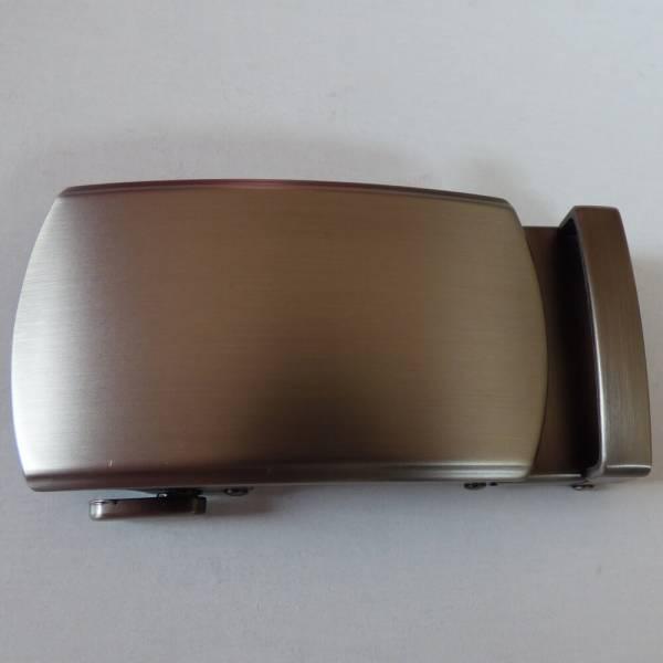 Boucle de ceinture à graver couleur gris mat ovalisée