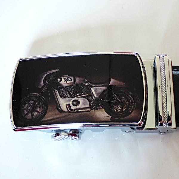 Boucle de ceinture automatique, polychrome, modèle Moto Rétro