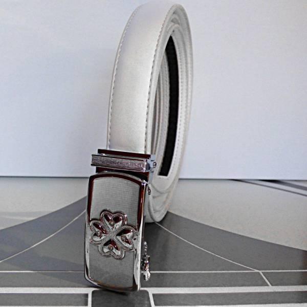 Ceinture automatique pour femme White Porte-Bonheur