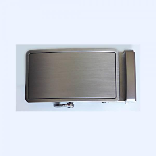 Boucle de ceinture à graver couleur gris mat