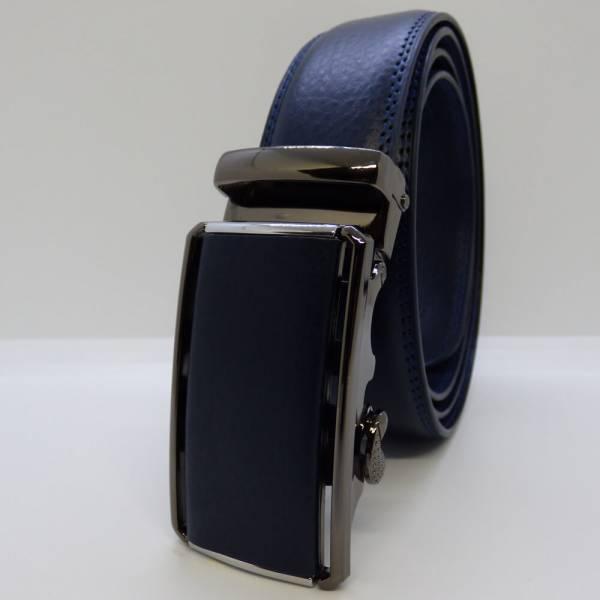 Ceinture automatique Élégance Boucle cuir 3.5cm bleu marine