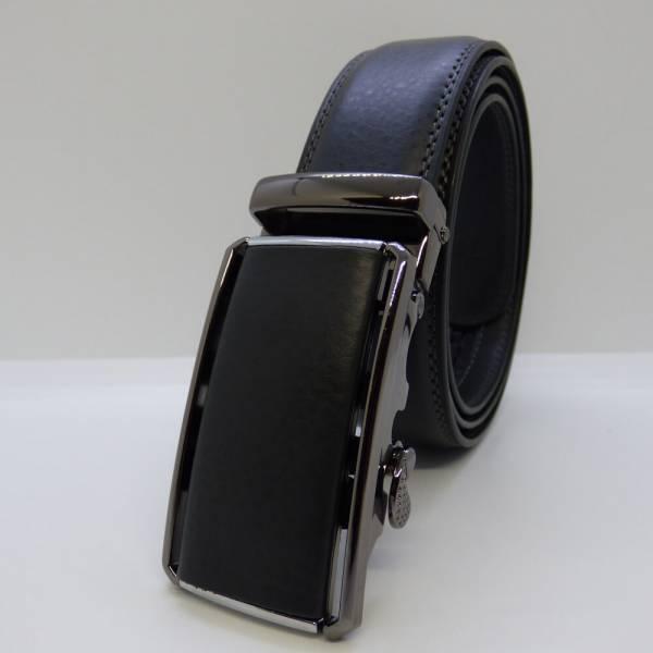 Ceinture automatique Élégance Boucle cuir 3.5cm gris fonce