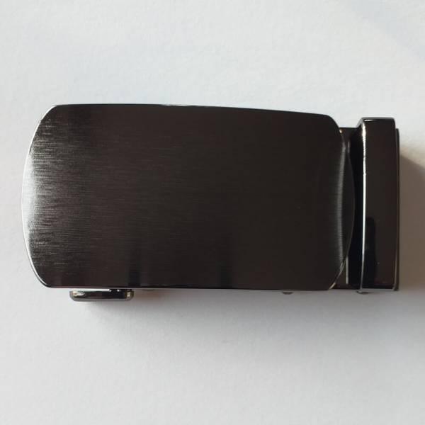 Boucle de ceinture à graver ovalisée brossée